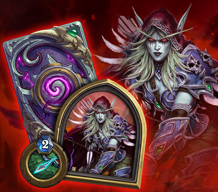 Sylvanas Windrunner Hearthstone hunter hős