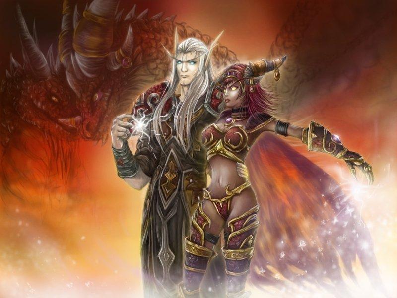 Alexstrasza és Krasus