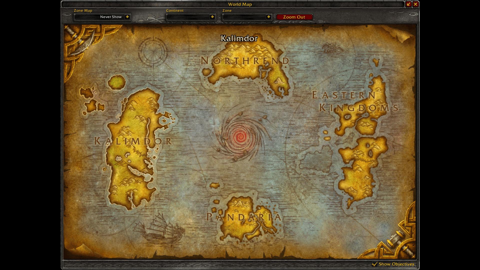 Azeroth térképe