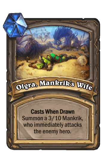Olgra, Mankrik's wife