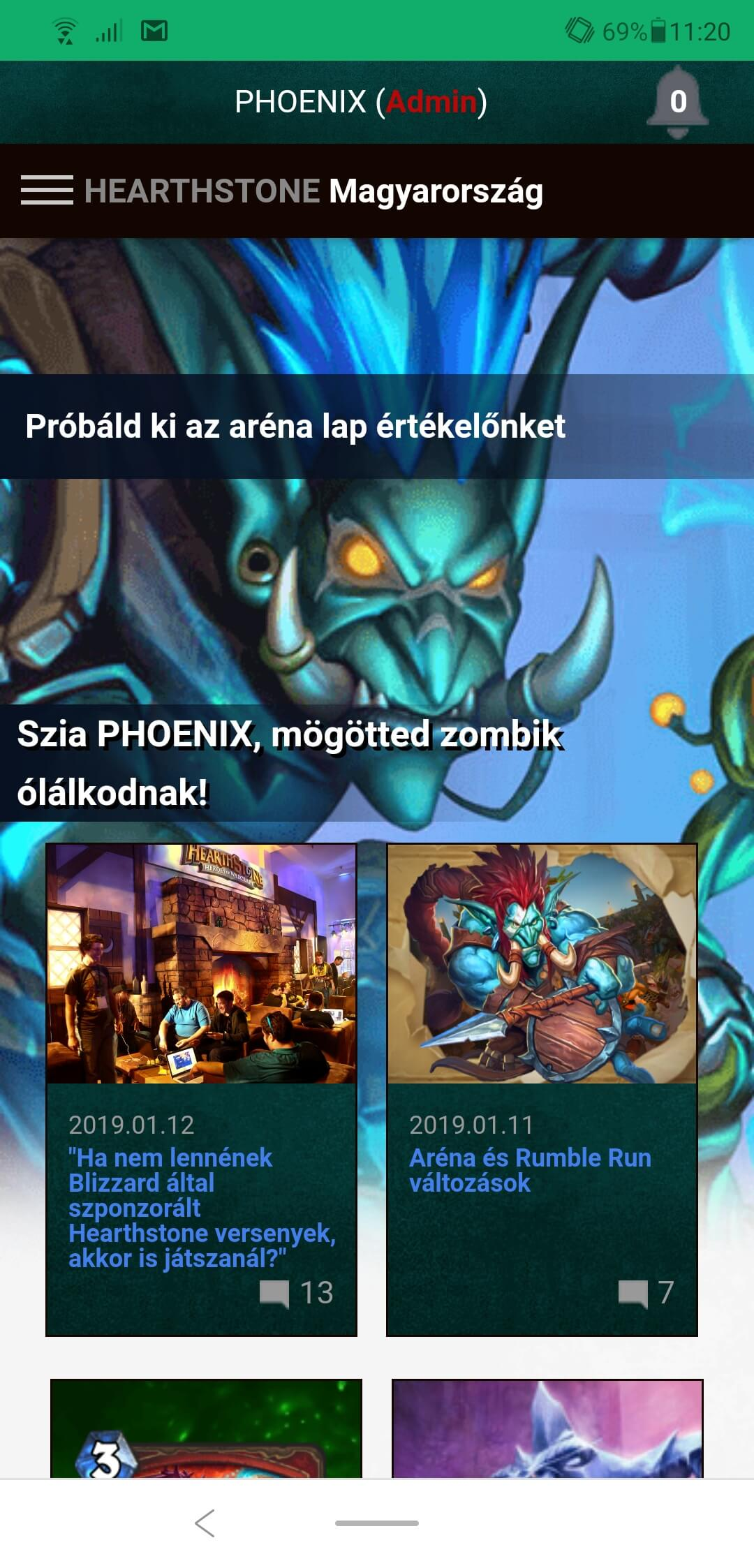 Hearthstone Hungary mobil