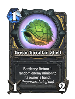 Green Tortollan Shell