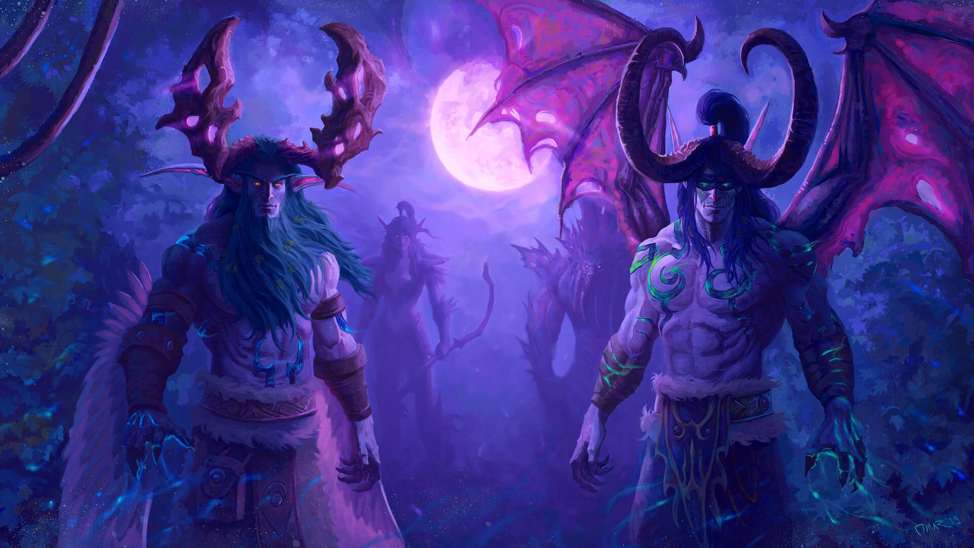 Malfurion és Illidan Stormrage - a két testvér