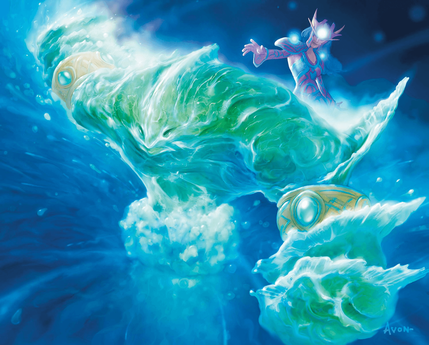 hearthstone kártya water elemental artwork
