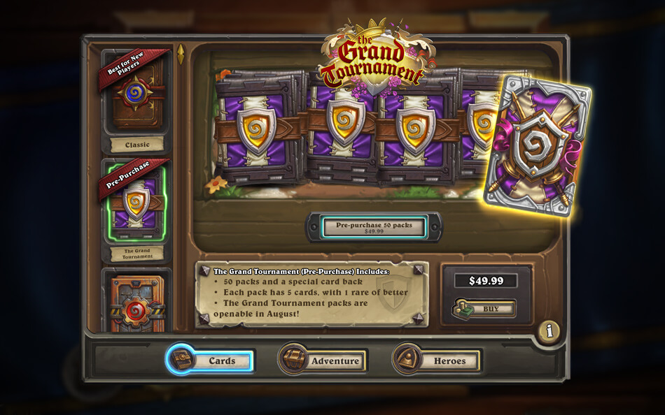 the grand tournament kártya csomag