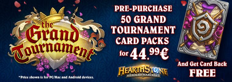 Előrendel(t)ed a The Grand Tournament 50-es kártyacsomagot?