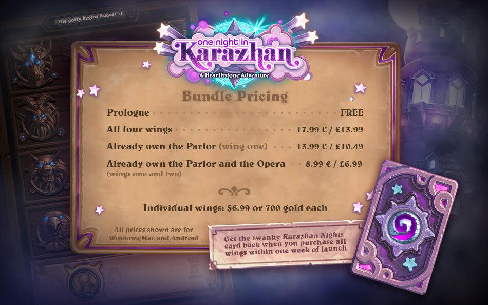 Karazhan árak