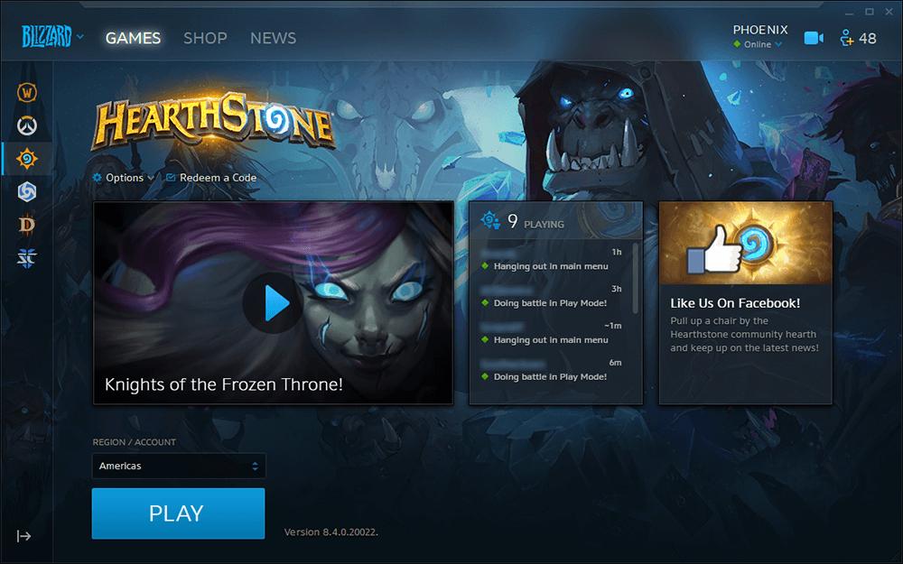 Blizzard Launcher frissítés, kisebb ikonok