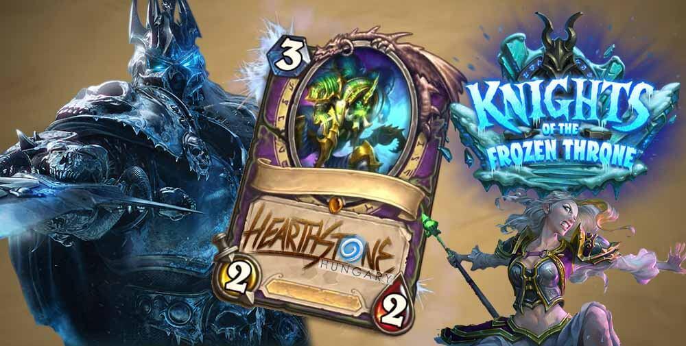 Frozen Throne kártyák az oldalon, paklik, gyűjtemény változások és egyéb frissítések