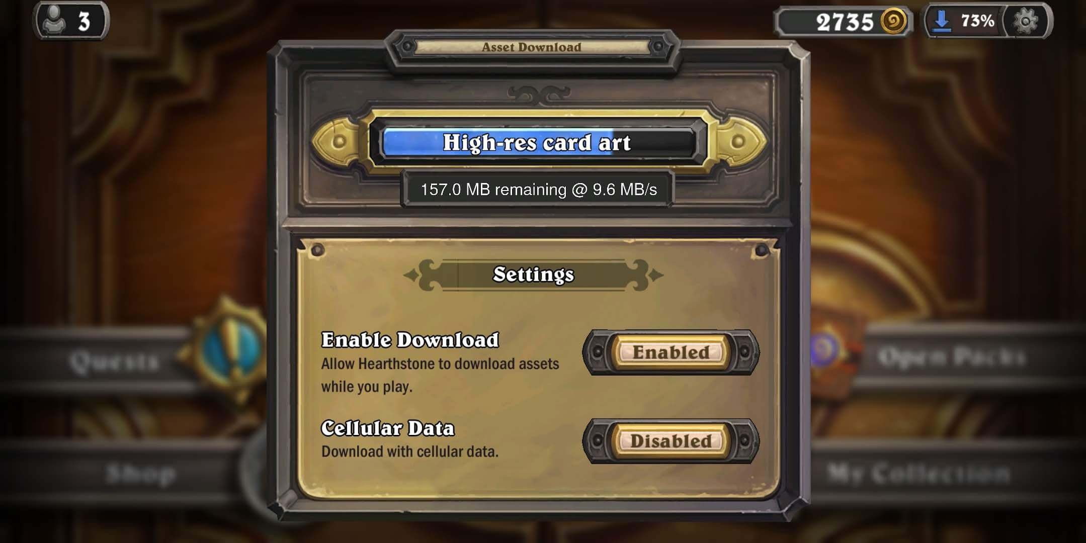 Hearthstone asset download