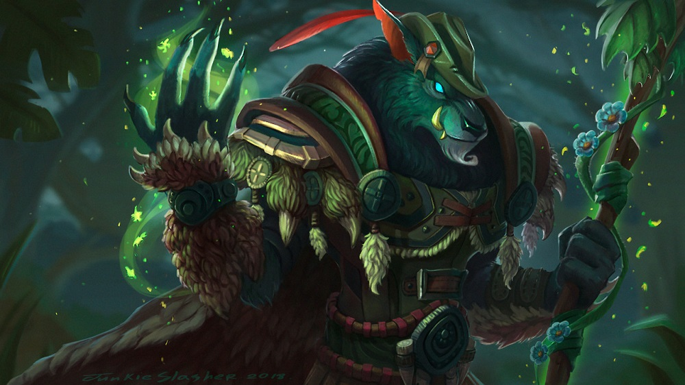 worgen druid artwork warcraft