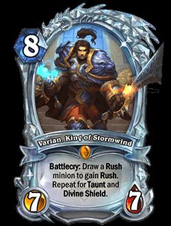 Varian, King of Stormwind Diamond kártya