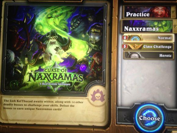 curse of naxxramas kaland mód normal és heroic