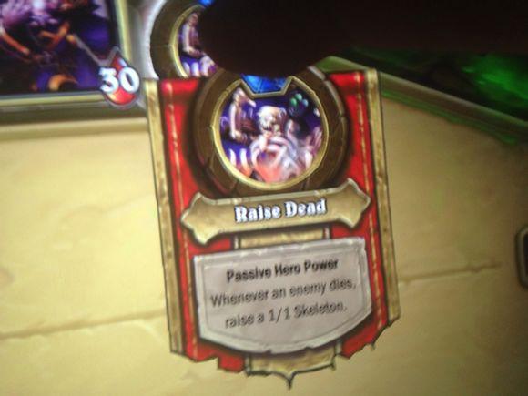 hearthstone raise dead naxxramas hero power