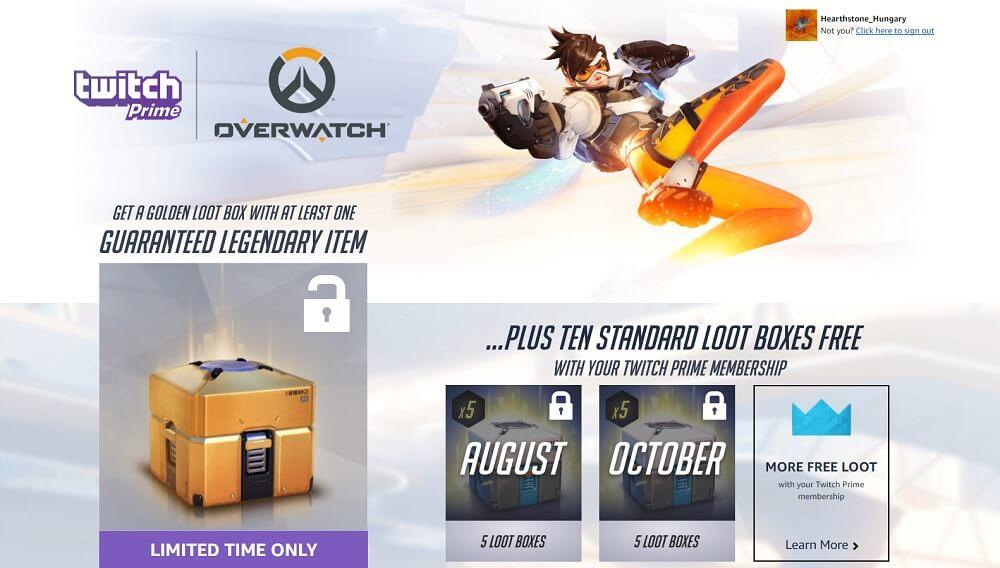 Blizzard és Twitch együttműködés - sok jutalommal (loot boxok, kártya csomagok, egyebek)