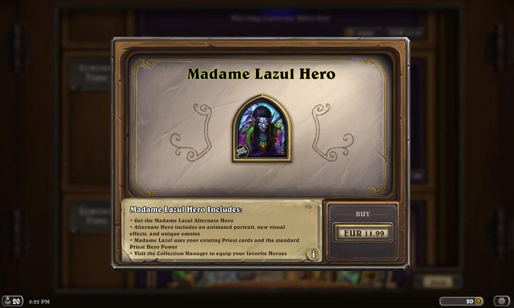 Madame Lazul hős