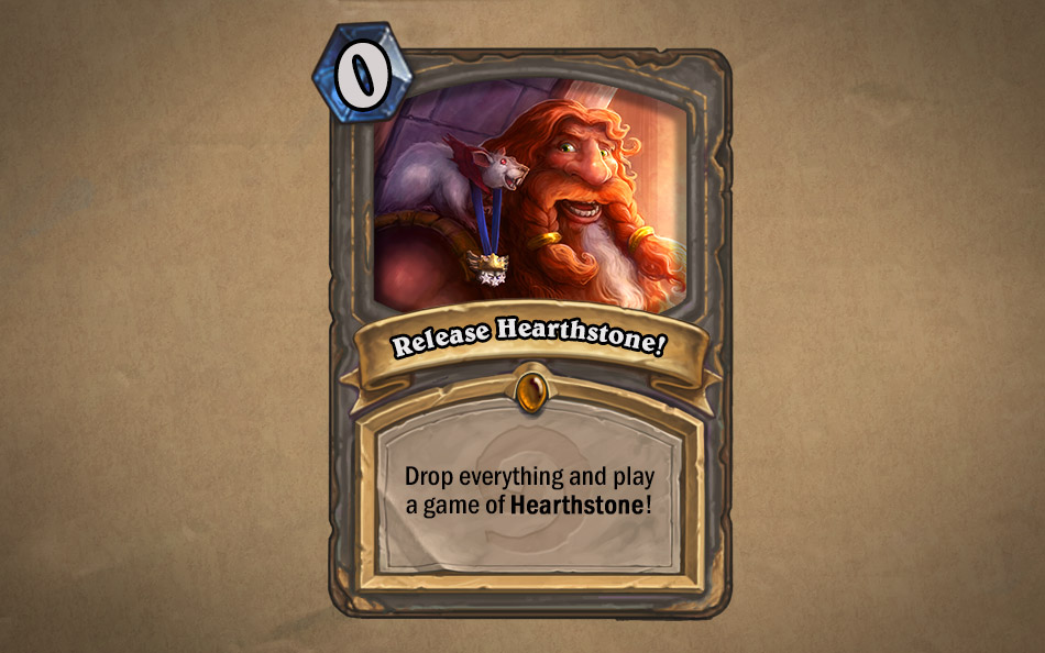 Hearthstone is live