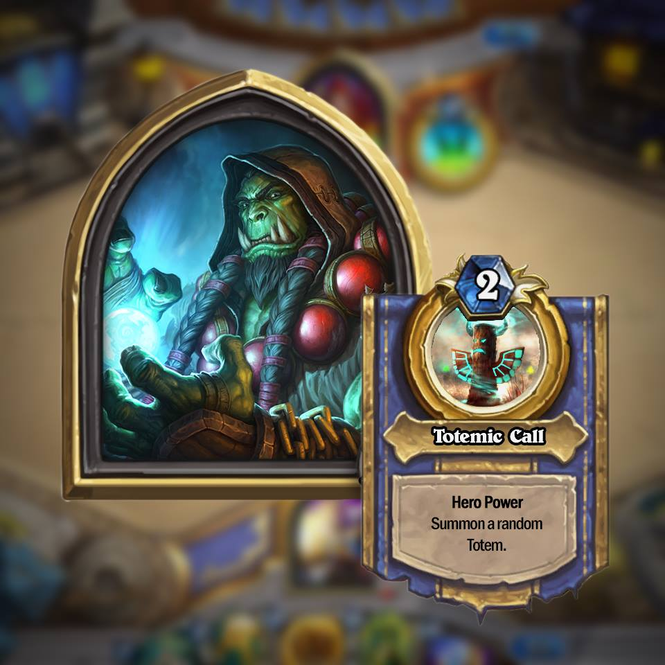 shaman Golden Hero Hearthstone