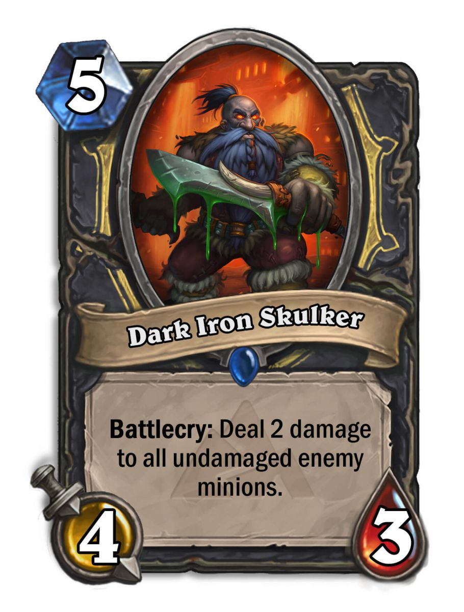 dakr iron skulker hearthstone kártya blackrock mountain