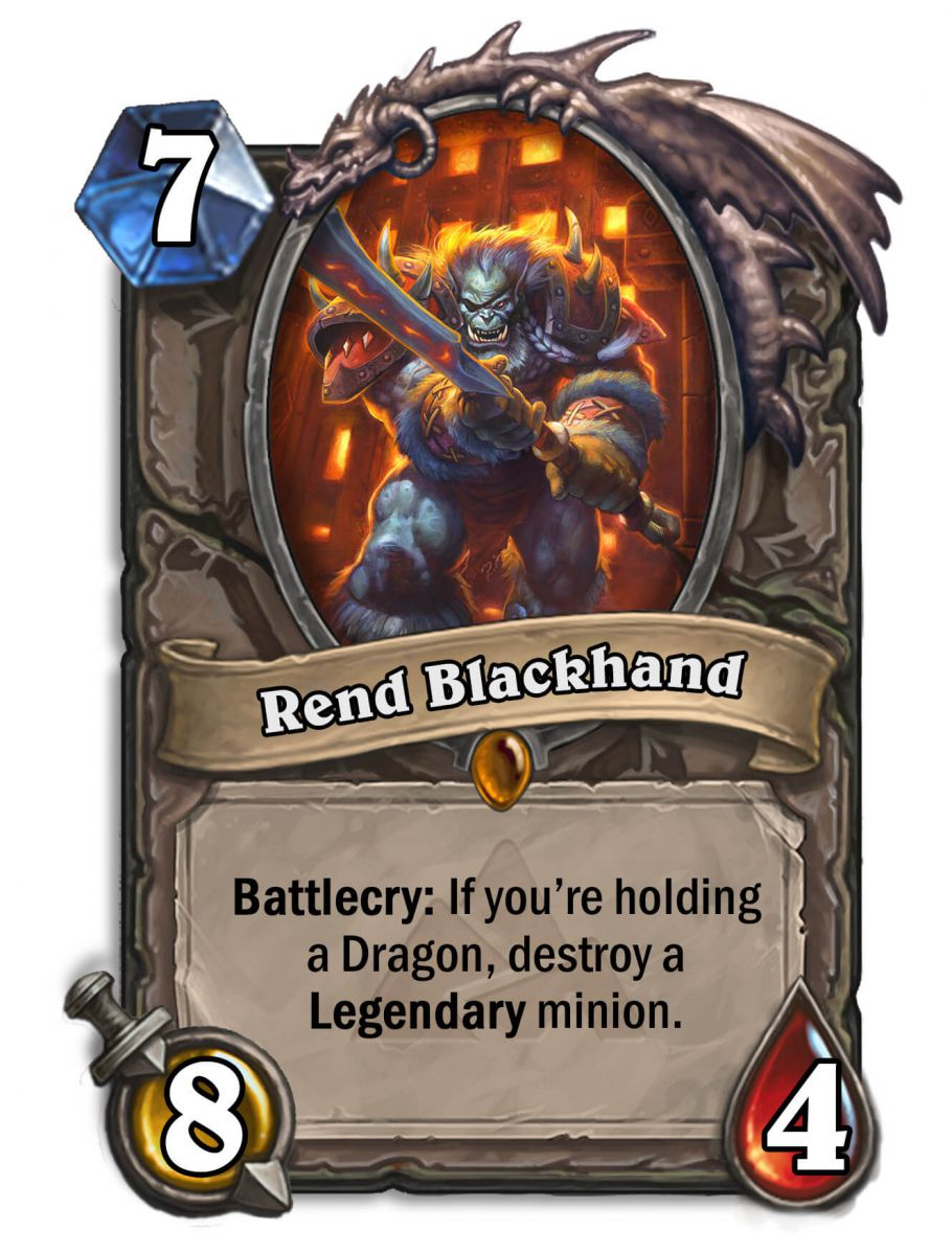 rend blackhand hearthstone kártya blackrock mountain