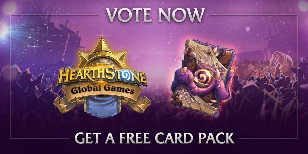 Hearthstone Global Games: Szavazás + ajándék Old Gods kártya csomag