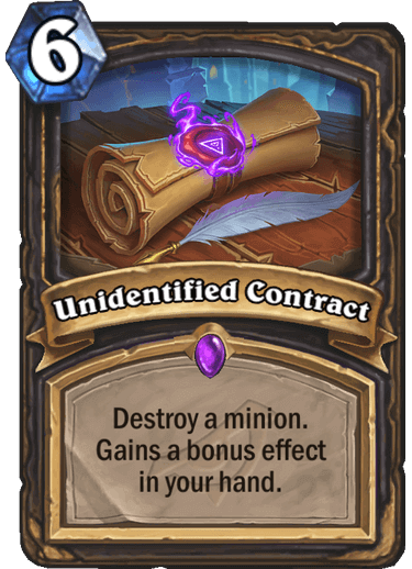 Unidentified Contract