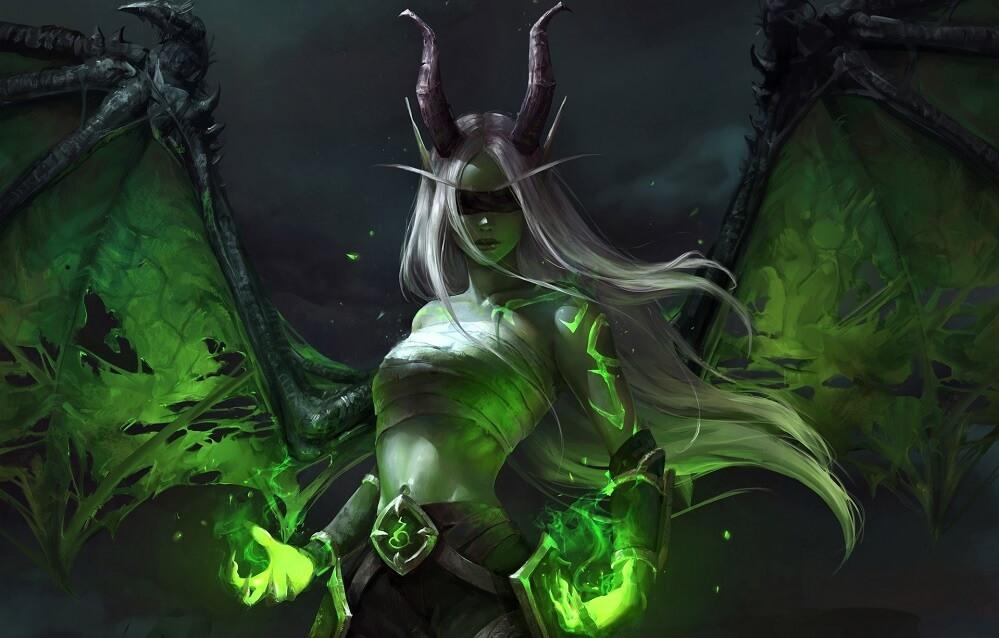 demon hunter girl art