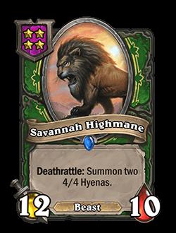 Savannah Highmane