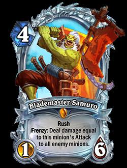 Blademaster Samuro Diamond kártya