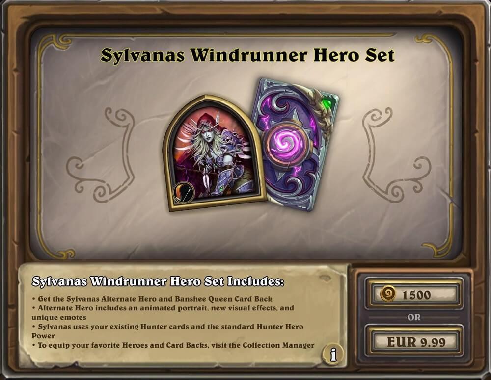 Sylvanas Windrunner hős szett