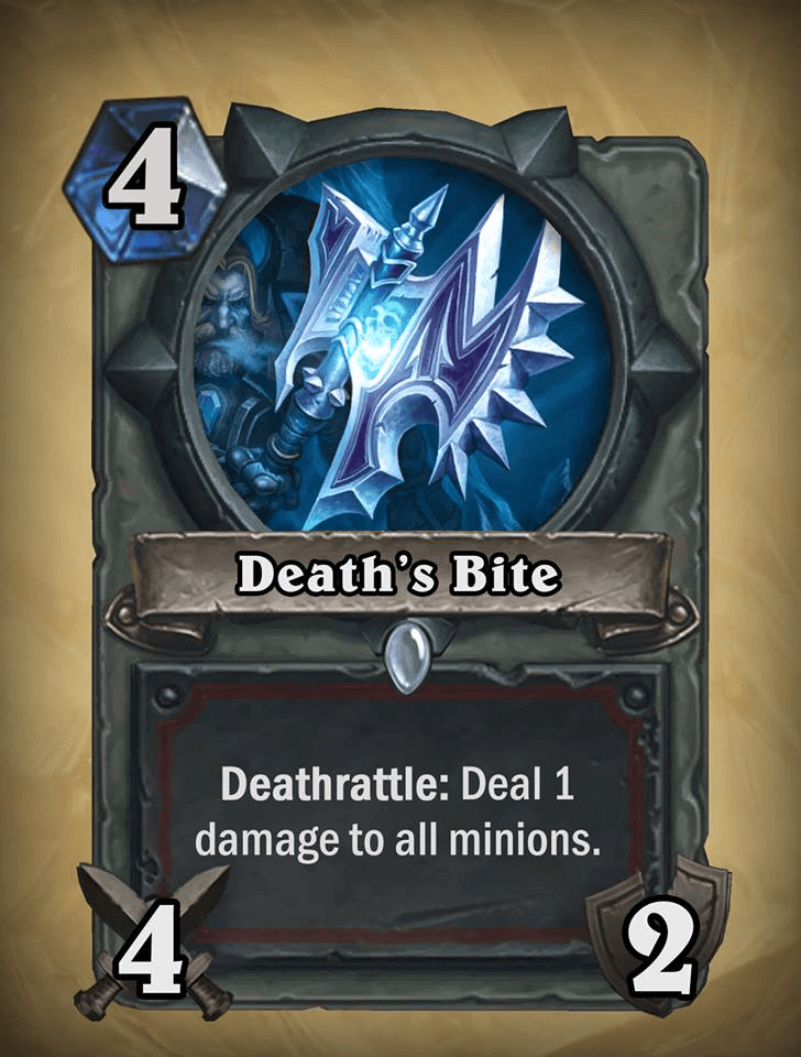 Deaths bite warrior card