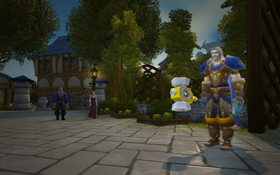 paladin uther in stormwind world of warcraft