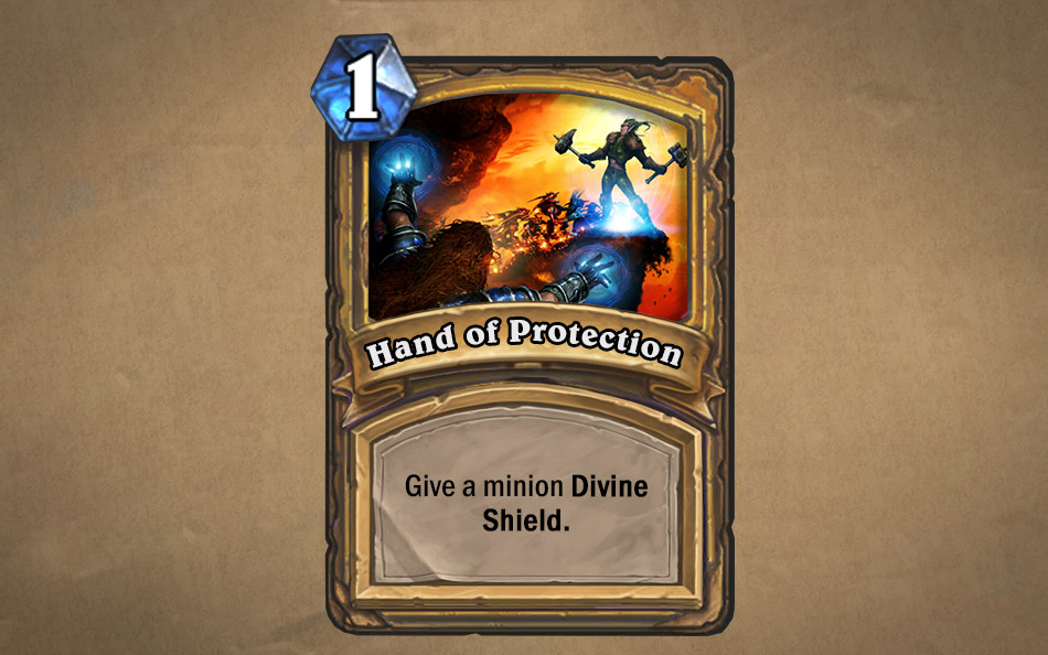 Hearthstone paladin card Hand of Protection