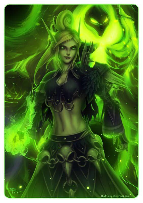 Blood elf warlock art