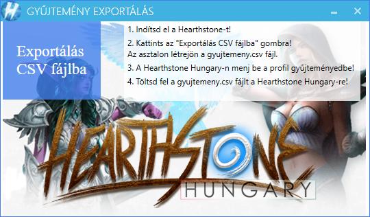 Hearthstone Deck Tracker exportálás