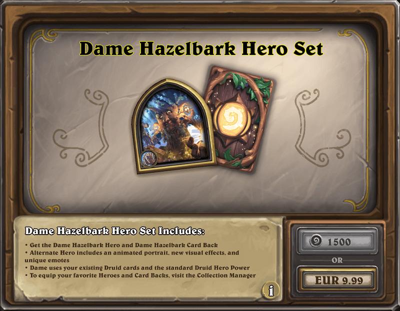 Dame Hazelbark hős szett