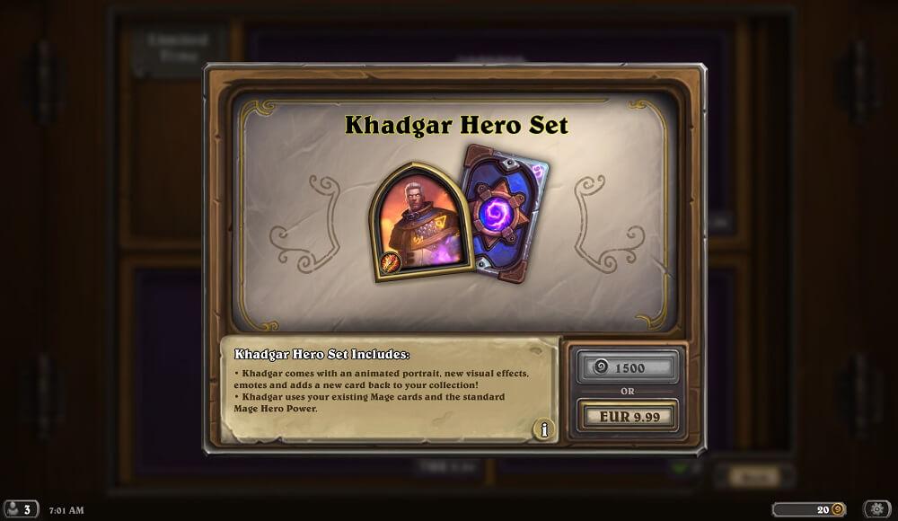 Khadgar hős szett