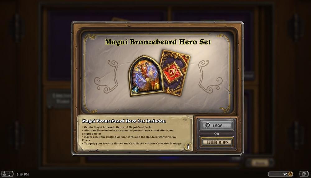 Magni Bronzebeard hős szett