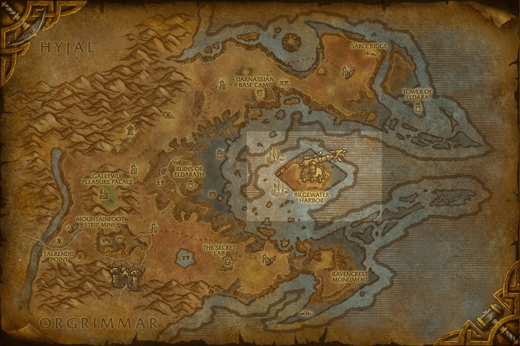 eye of azshara térkép