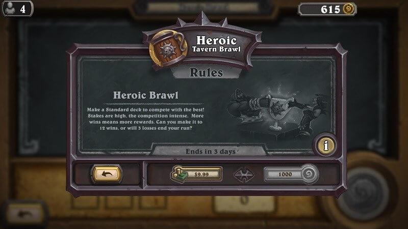 Heroic Brawl limit 100-ra növelve és egyéb változások
