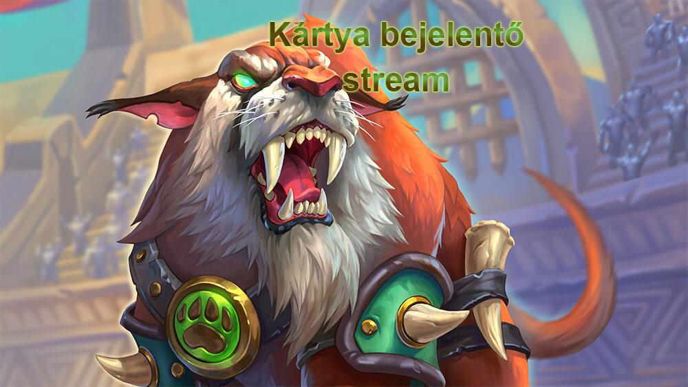 Rastakhan's Rumble kártya bejelentő stream (9 új lap)