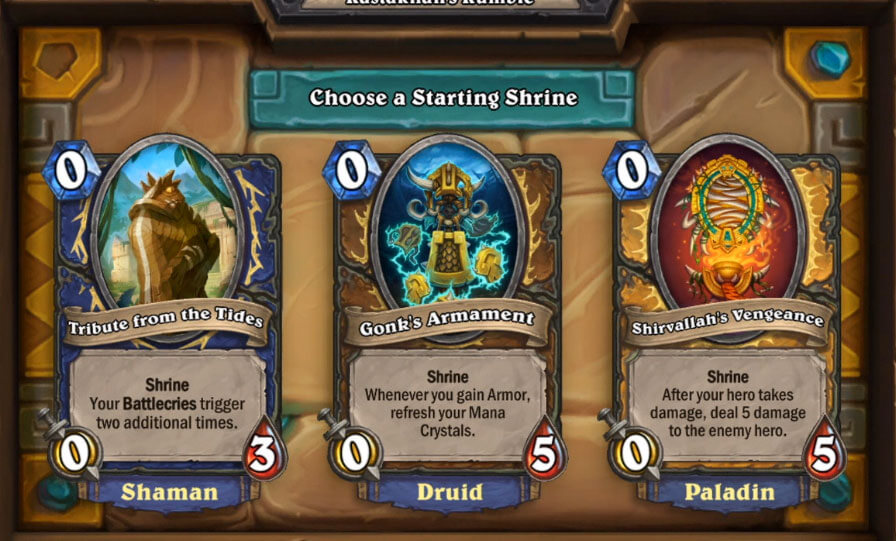 Rumble Run Shrines Hearthstone