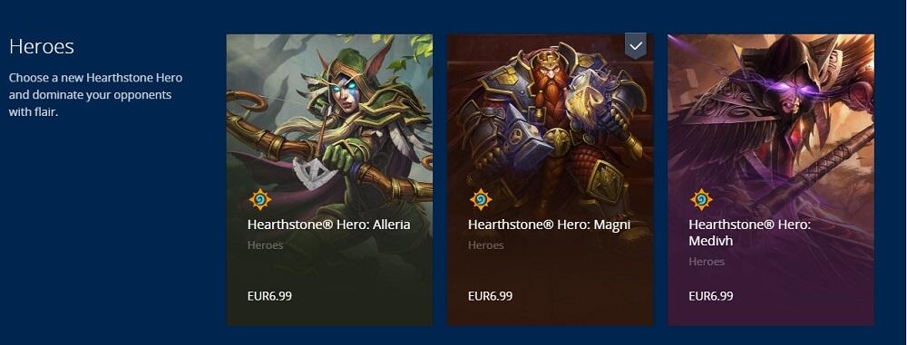 olcsóbb alternatív Hearthstone hősök