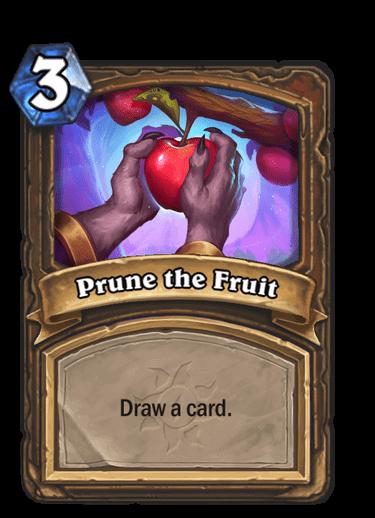 Prune the Fruit