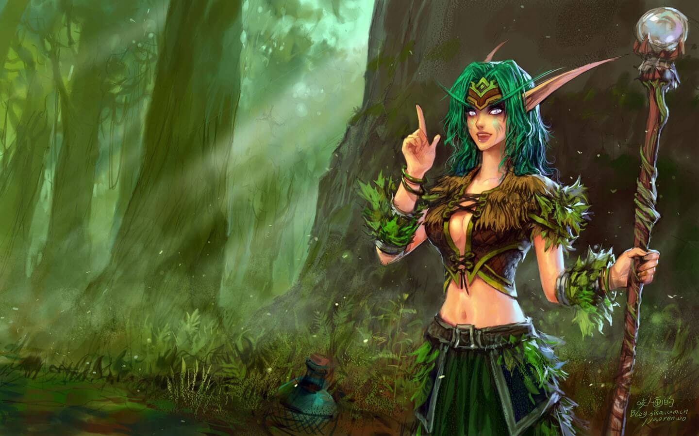 world of warcraft elf art