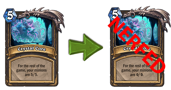Crystal Core nerf