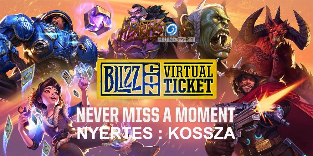 BlizzCon Virtuális jegy nyertes, további oldal fejlesztések és az imasarok