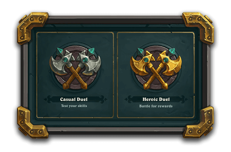 Casual vagy Heroic Duel