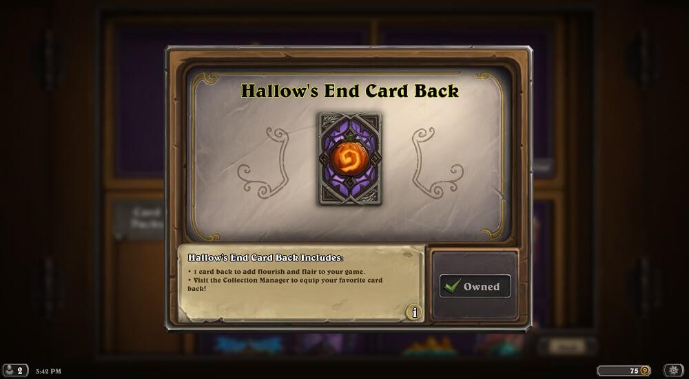 Hallows End hátlap