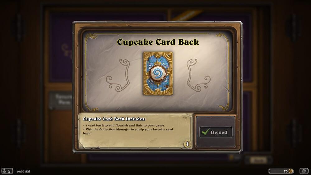 Cupcake hátlap